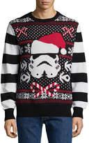 NOVELTY SEASON Novelty Season Crew Neck Long Sleeve Star Wars Cotton Blend Pullover Sweater