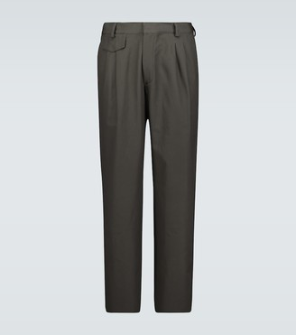GR10K Double-pleated cotton pants