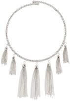 Natasha Accessories Tassel Collar Necklace