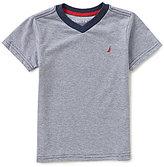 Nautica Little Boys 4-7 Tonal Striped Short-Sleeve V-Neck Tee