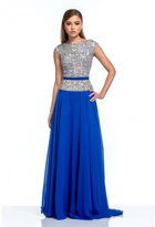 Terani Couture Embellished Bateau Neck A-Line Gown 151M0351B