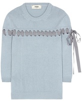 Fendi Ribbon-stitched cashmere sweater