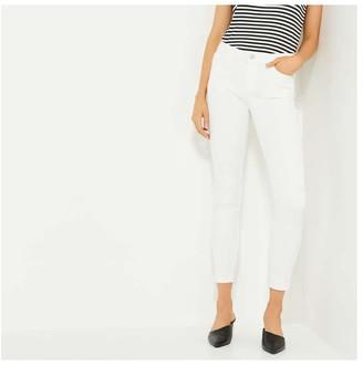 Joe Fresh Women's Slim-Fit Jeans, White (Size 25)