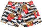 MC2 Saint Barth French Fries Print Nylon Swim Shorts