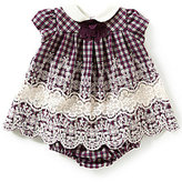 Bonnie Jean Baby Girls Newborn-24 Months Plaid Embroidered Dress