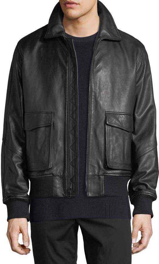 e8327452718 Mens Leather Sweater Jacket - ShopStyle