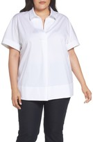 Lafayette 148 New York Plus Size Women's Damon Blouse