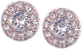 Givenchy Rose Gold-Tone Small Pavé Stud Earrings
