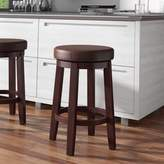 """Andover Mills Colesberry Swivel Bar & Counter Stool Seat Height: Counter Stool (24"""" Seat Height), Upholstery: Faux Leather-Brown"""