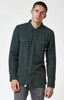 Vans Wayland Olive Plaid Flannel Long Sleeve Button Up Shirt