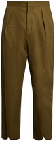 J.W.Anderson Pleat-back cotton cropped trousers