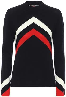 Perfect Moment Merino wool chevron sweater