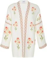 Vilshenko Sophie Floral Printed Crepe Jacket