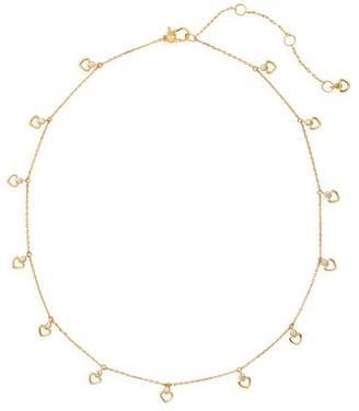 Kate Spade Shining Spade & Cubic Zirconia Station Necklace