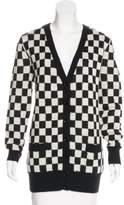 Saint Laurent 2015 Checkered Mohair Cardigan