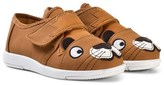 Emu Brown Faux Leather Lion Trainers