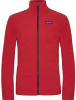 Patagonia Nano Air Padded Nylon-ripstop And Waffle-knit Hybrid Jacket - Red