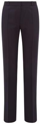 Pallas X Claire Thomson-jonville - Fulham Wool Straight-leg Trousers - Womens - Navy