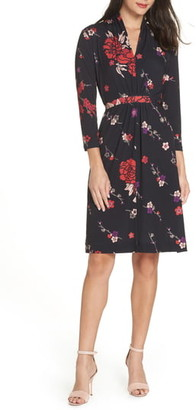 French Connection Long Sleeve Ruched Dress