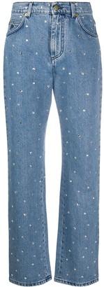 Philosophy di Lorenzo Serafini Denim Embellished Straight Leg Jeans