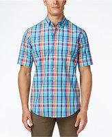 Club Room Men's Big and Tall Plaid Short-Sleeve Shirt, Classic Fit
