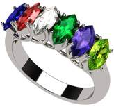 Nana Marquise Cut Lucita Style 1 to 7 Simulated Birthstones - Mother's Birthstone Ring- Sterling Silver-Size 7