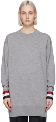 Thom Browne Grey Merino Oversized Fit Sweater