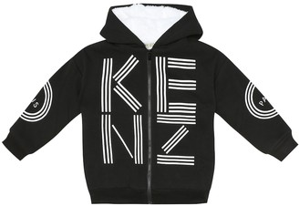 Kenzo Kids Cotton-blend zipped hoodie
