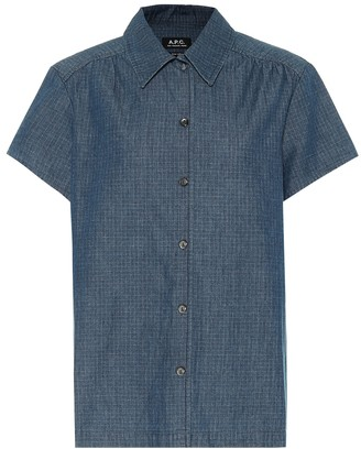 A.P.C. Cleo checked denim shirt