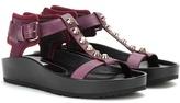Balenciaga Classic Strap T Bar Leather Sandals