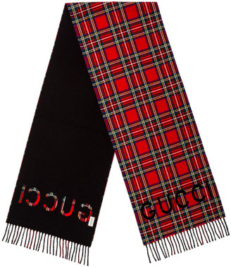 Gucci Scarf in Black & Red | FWRD