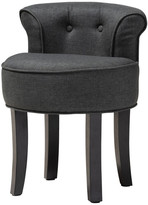 Baxton Studio Audrey Traditional Small Gray Fabric Upholstered Accent Chair