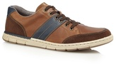 Rieker Tan Leather Lace Up Trainers
