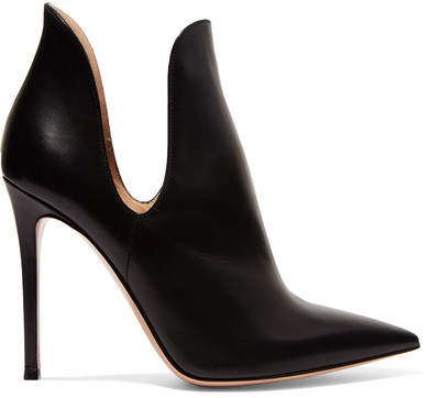 Gianvito Rossi Nagoya 100 Leather Ankle Boots - Black