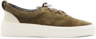 Fear Of God SSENSE Exclusive Khaki Suede 101 Lace-Up Sneakers