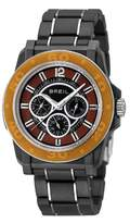 Breil Milano Men's Quartz Watch with Black Dial Analogue Display and Black PU Strap TW0847