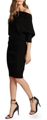 Reiss Lara Off the Shoulder Knit Dress