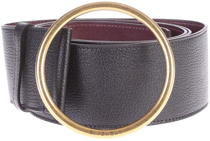 Givenchy Black Circular Buckle Belt