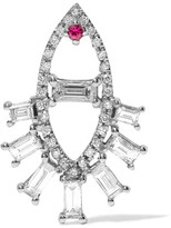 Ileana Makri Teared Eye 18-karat White Gold, Diamond And Ruby Earring - one size
