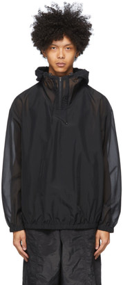Y-3 Black Swim Hooded Jacket