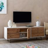 west elm Reclaimed Wood + Lacquer Storage Long Media