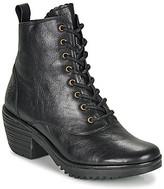 Fly London WUNE women's Low Ankle Boots in Black