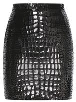 Saint Laurent Embellished Velvet Miniskirt