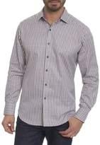 Robert Graham Marion Striped Cotton Sport Shirt