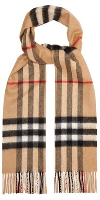 Burberry Giant Checked-cashmere Scarf - Beige