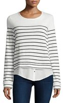 Joie Lakelyn Mariner-Stripe Long-Sleeve Combo Top