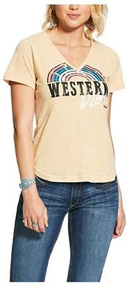Ariat Western Vibes Tee (Gold Dust) Women's T Shirt