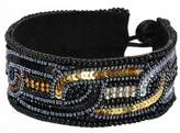 Bangle-bracelets Oval Link Gold/silver/black (Silver/gold) Made With Glass & Sequin