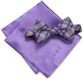 Alfani Men's Purple Bow Tie and Pocket Square Set, Created for Macy's