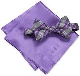 Alfani Men's Purple Bow Tie & Pocket Square Set, Created for Macy's